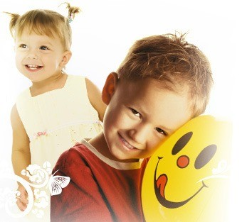 Дети со смайликом