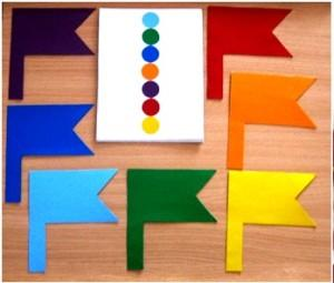 Разноцветные флажки
