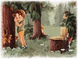 Лес мальчик
