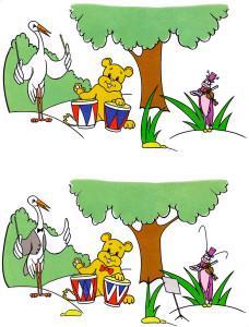 Медведь и цапля дерево