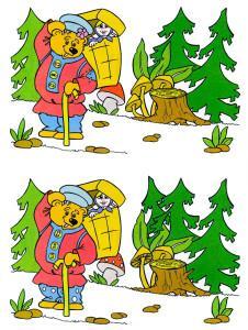 Медведь и пенек