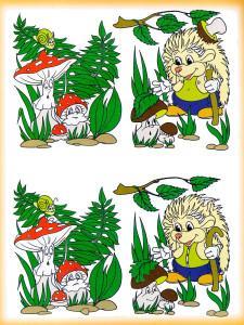 Мухомор и ежик