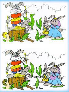 Заяц на пеньке