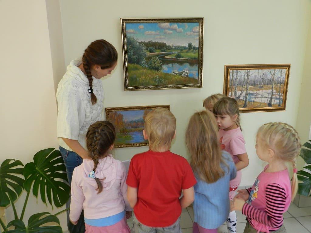 Дети и картины