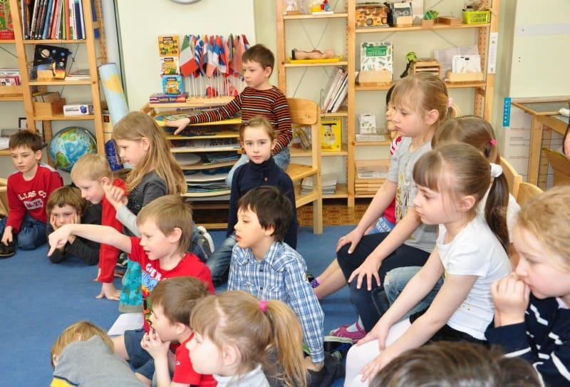 Дети на музыкальном занятии