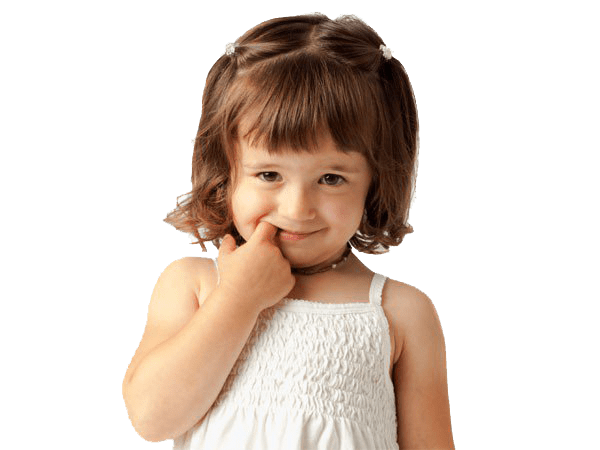 Девочка с пальцем во рту