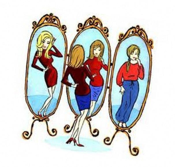 Самооценивание перед зеркалом