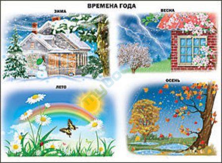 Времена года иллюстрации