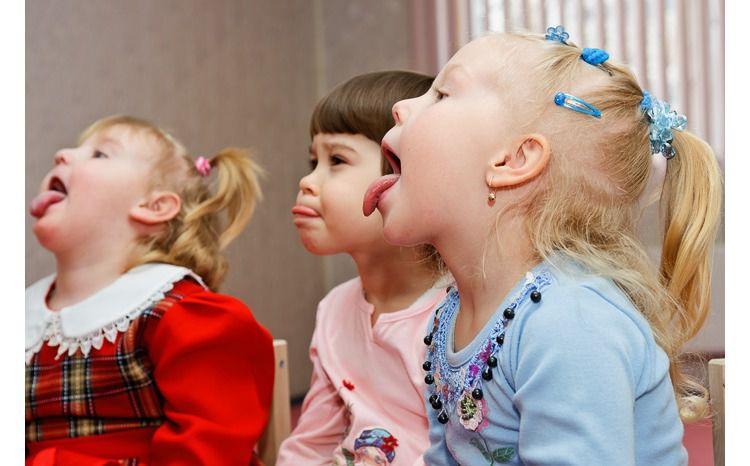 Дети открыли рот