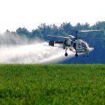 Опрыскивание вертолетом