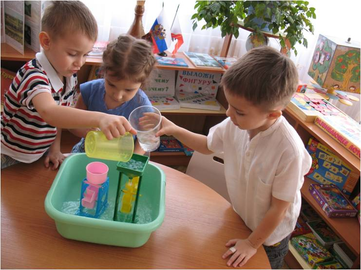 Дети ставят эксперимент