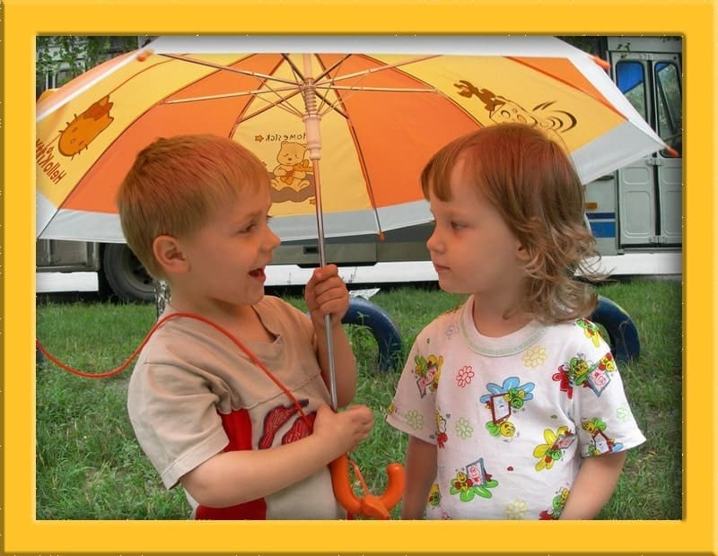 Общение под зонтом