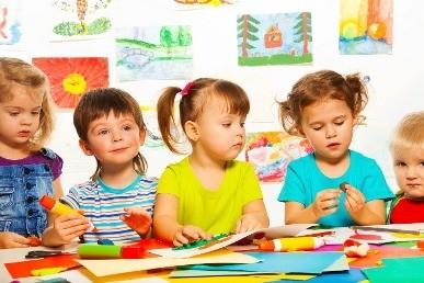 Дошкольники на занятии