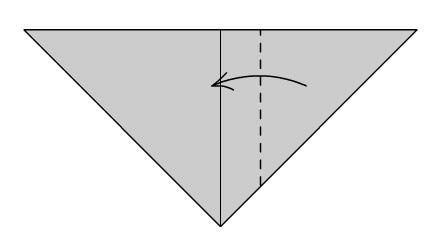 Мышка оригами шаг третий