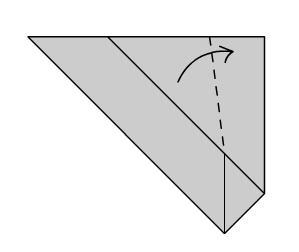 Мышка оригами шаг четвертый