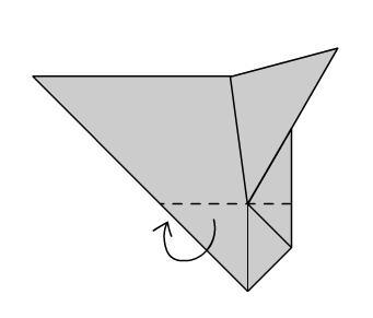 Мышка оригами шаг пятый