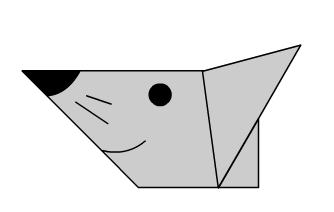 Мышка оригами конец