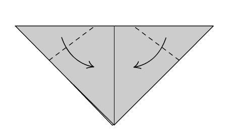 Собака Оригами шаг третий