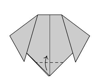 Собака Оригами шаг четвертый