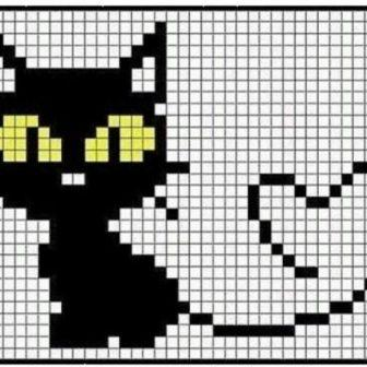 Кот по клеточкам