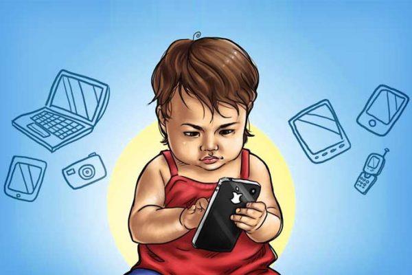 Ребенок с гаджетами
